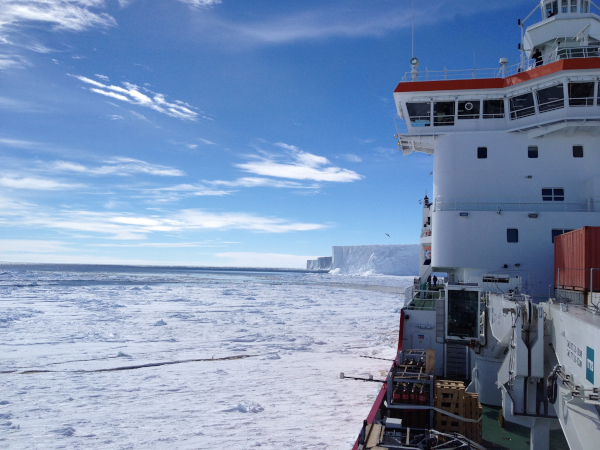 Icebreaker in the arctic